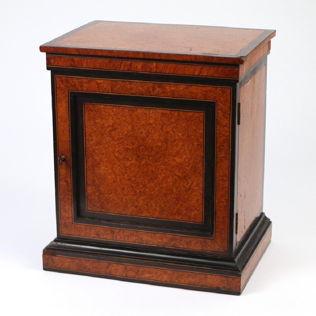 BURLED WALNUT & EBONIZED VALUBLES BOX