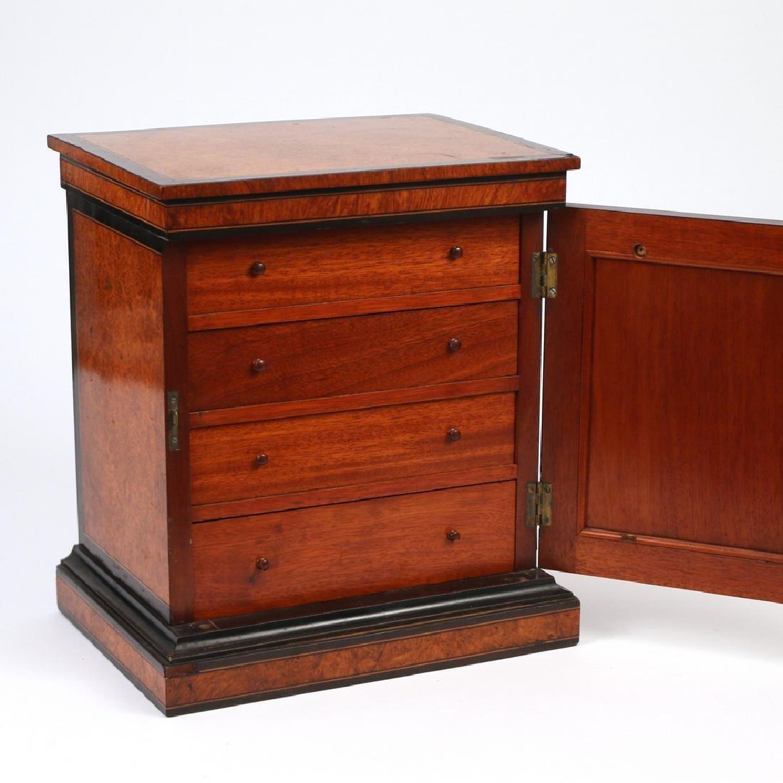 BURLED WALNUT & EBONIZED VALUBLES BOX - 4
