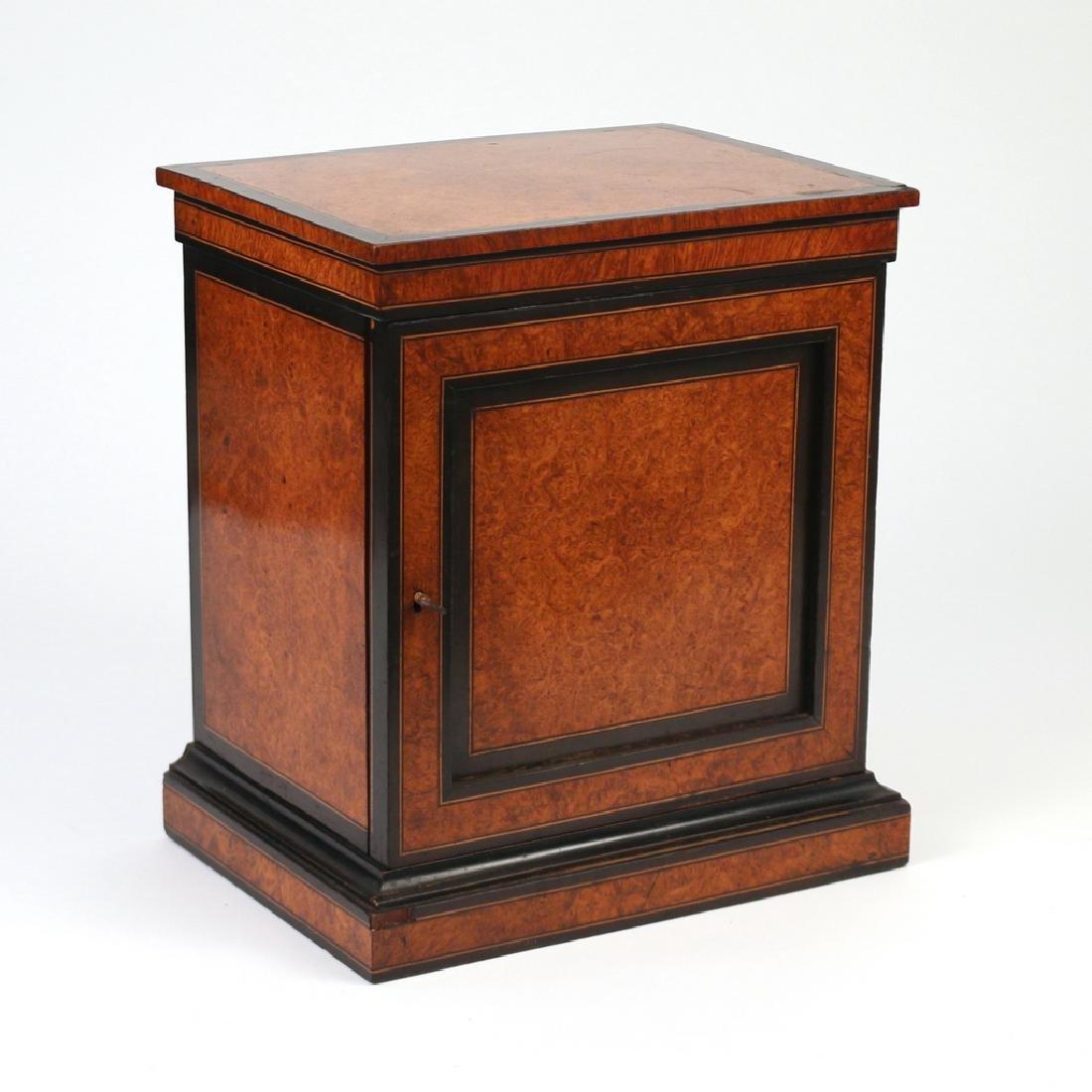 BURLED WALNUT & EBONIZED VALUBLES BOX - 5