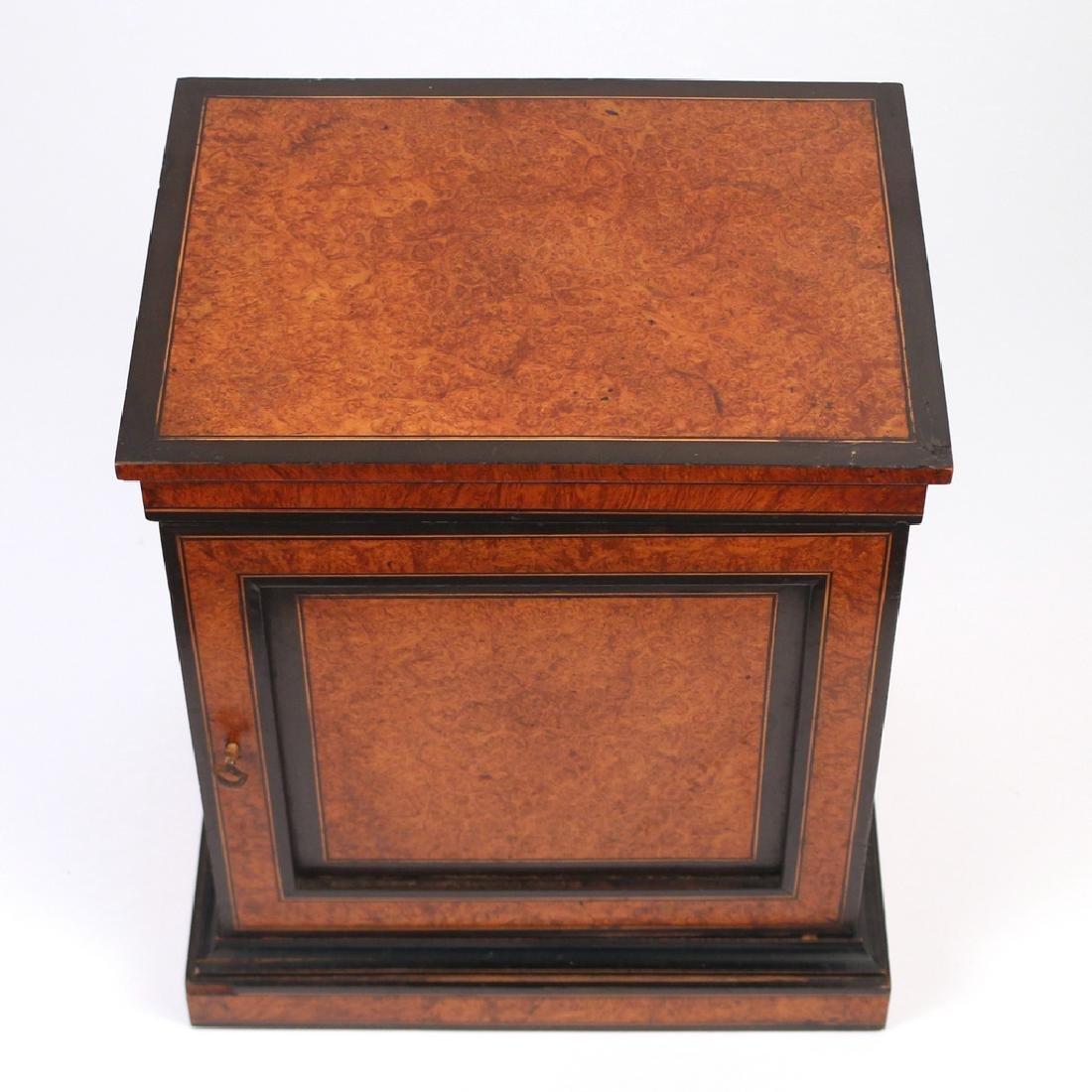 BURLED WALNUT & EBONIZED VALUBLES BOX - 6