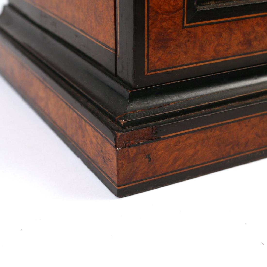 BURLED WALNUT & EBONIZED VALUBLES BOX - 7