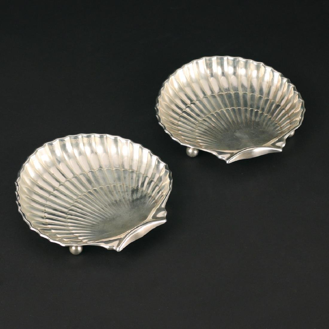 (2pc) GORHAM STERLING SILVER SHELL DISHES