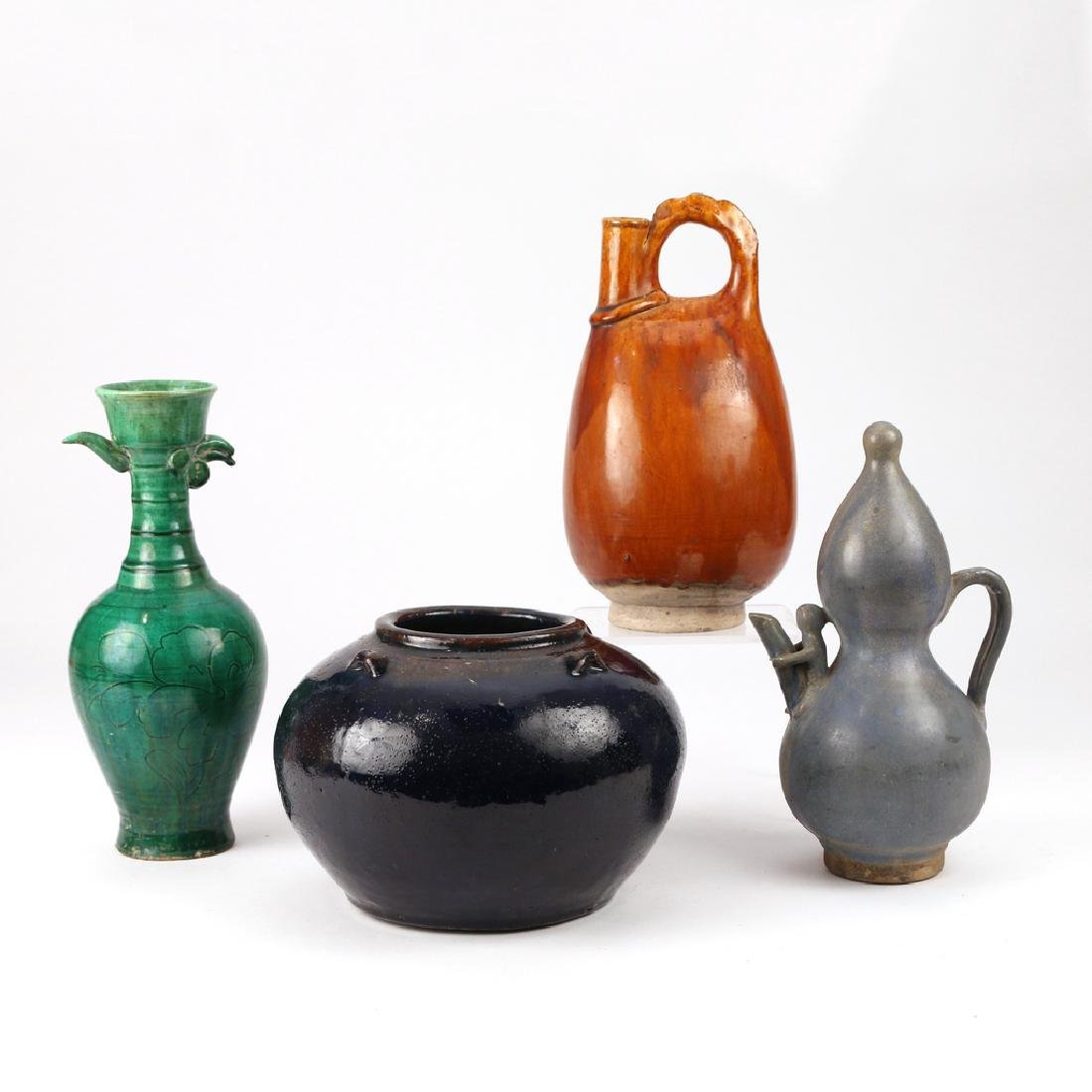 (4pc) CHINESE EARLY OR EARLY-STYLE CERAMICS