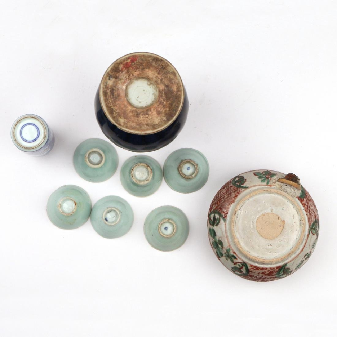 (9pc) SMALL CHINESE PORCELAIN ITEMS - 2