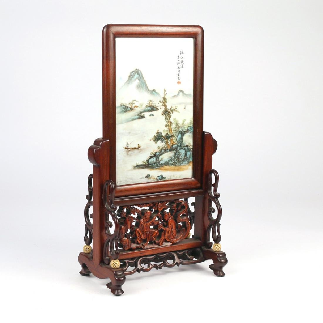 CHINESE PORCELAIN TABLE SCREEN - 2