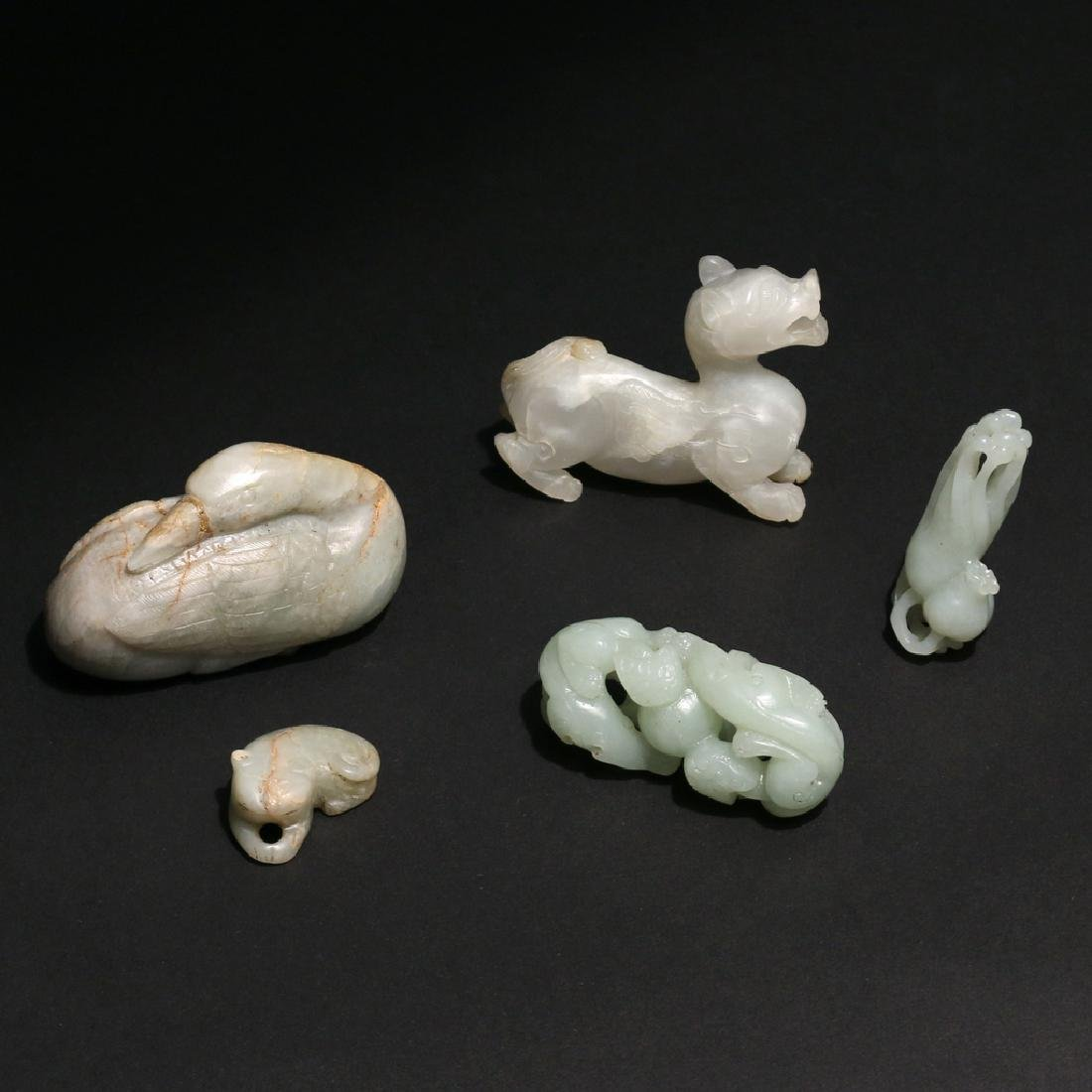 (5pc) CHINESE HARDSTONE CARVINGS