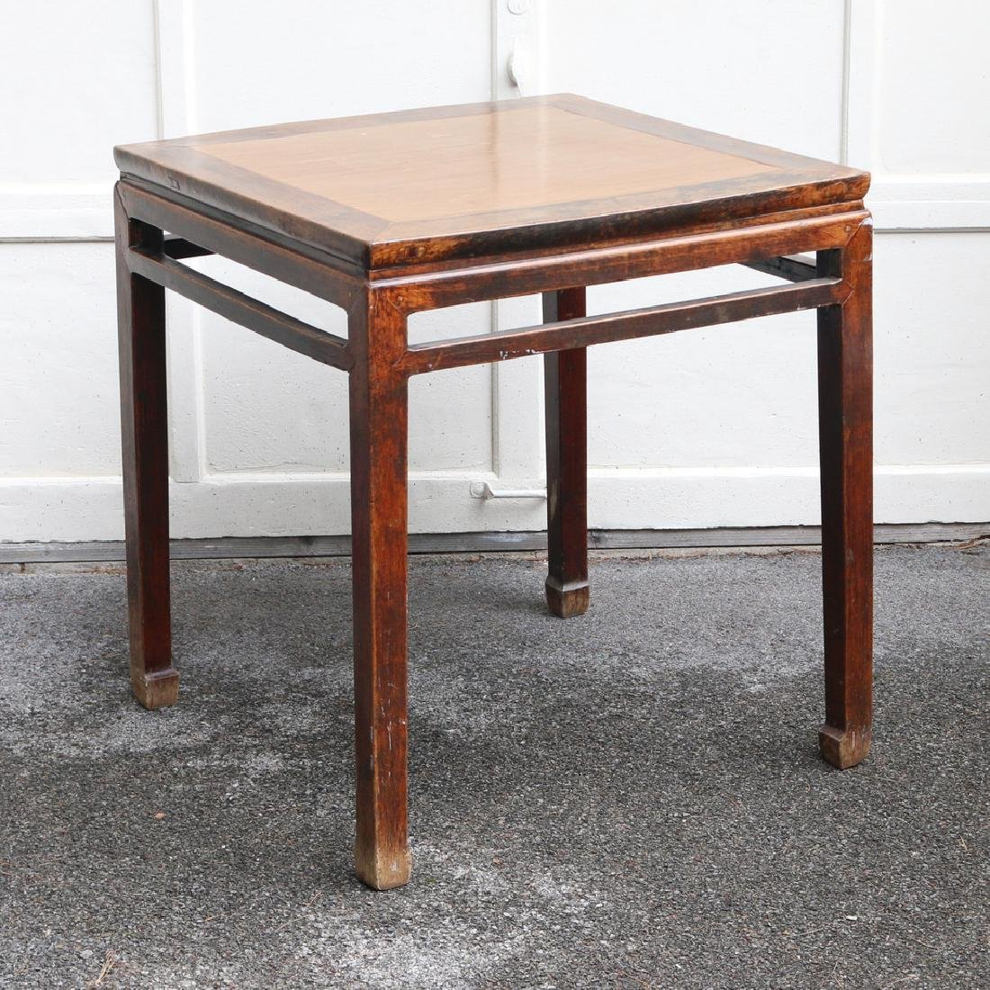 CHINESE SQUARE END TABLE