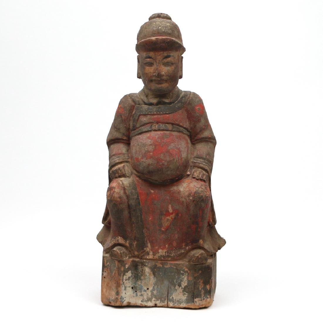 CARVED CHINESE FIGURE OF A NOBLE
