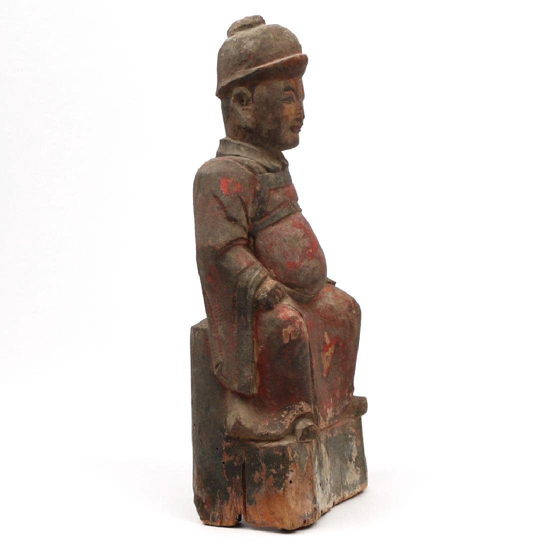 CARVED CHINESE FIGURE OF A NOBLE - 2