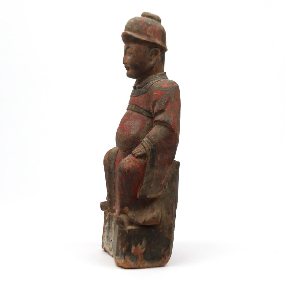 CARVED CHINESE FIGURE OF A NOBLE - 3