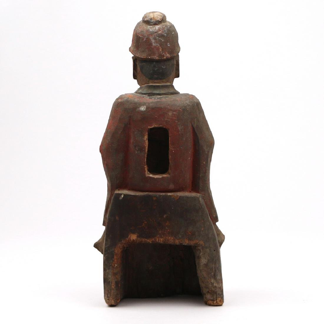 CARVED CHINESE FIGURE OF A NOBLE - 4