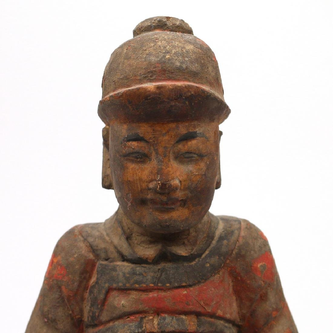 CARVED CHINESE FIGURE OF A NOBLE - 6