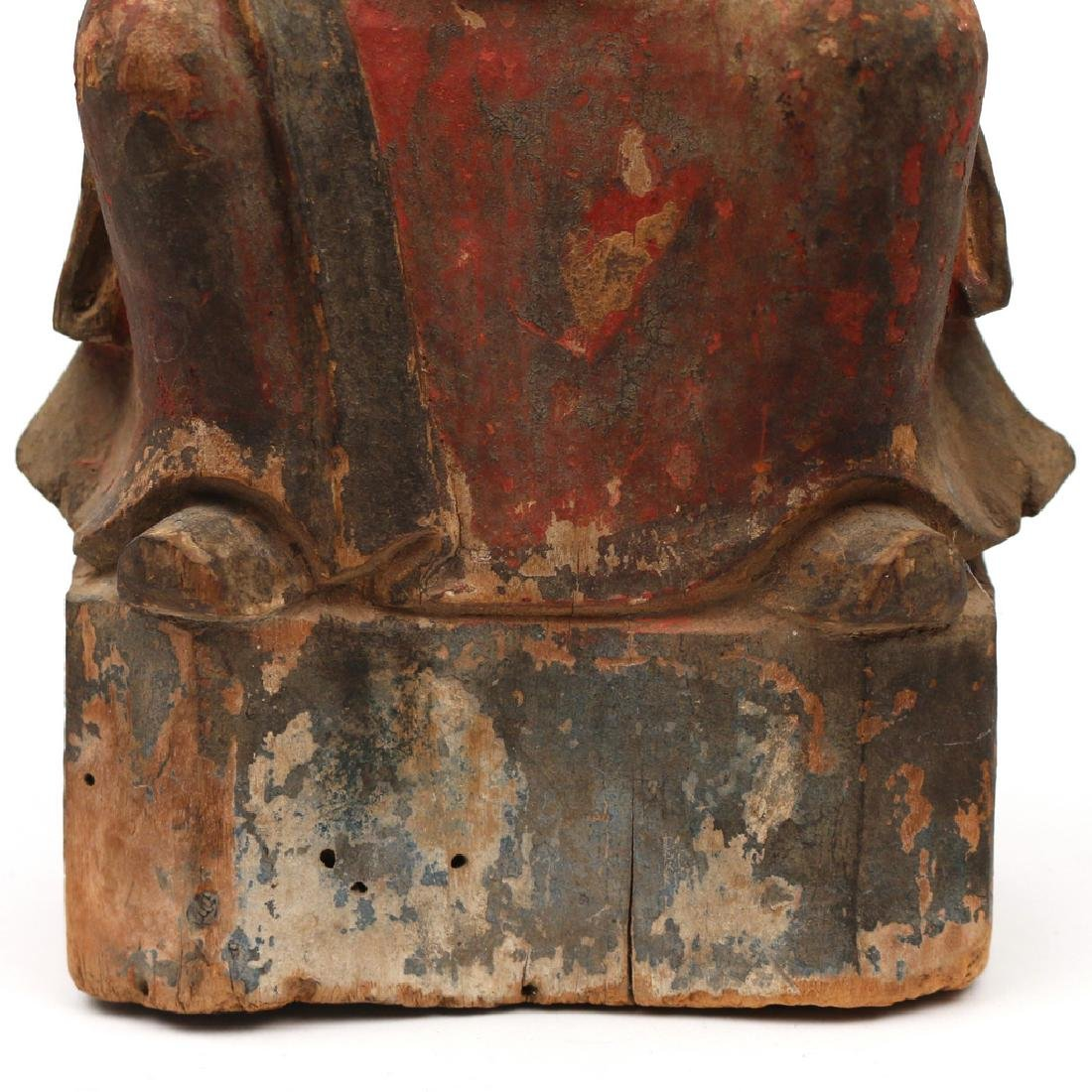 CARVED CHINESE FIGURE OF A NOBLE - 7