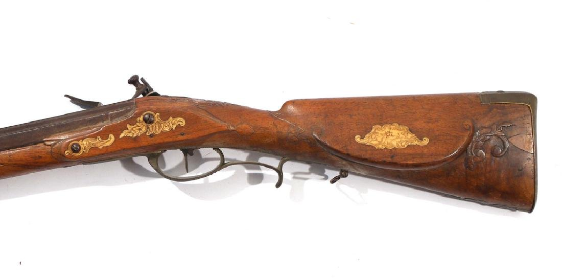 C.L. SCHINDLER GERMAN FLINTLOCK RIFLE - 4