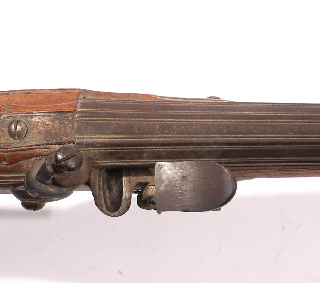 C.L. SCHINDLER GERMAN FLINTLOCK RIFLE - 5