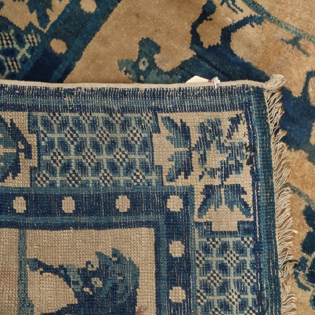 (2pc) ANTIQUE CHINESE PICTORIAL RUGS - 9