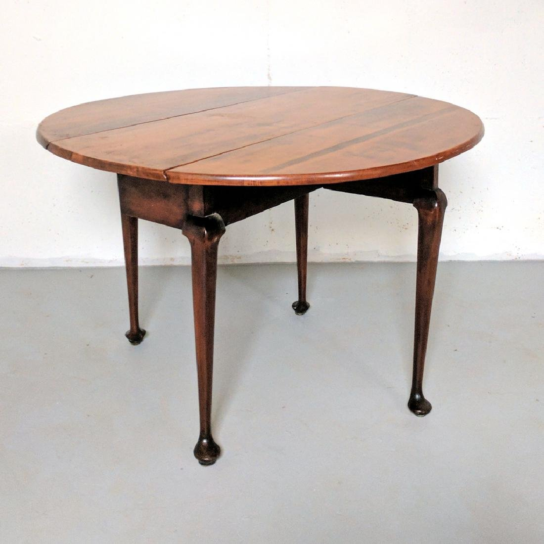 QUEEN ANNE MAPLE / CHERRY DROP-LEAF TABLE - 2