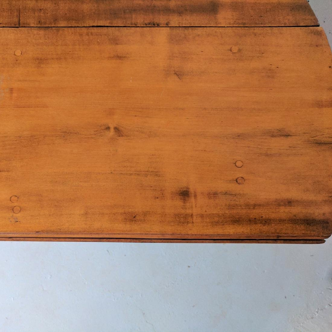 QUEEN ANNE MAPLE / CHERRY DROP-LEAF TABLE - 6