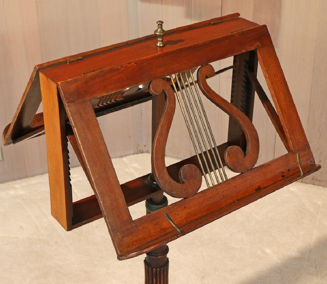 REGENCY-STYLE MAHOGANY DOUBLE MUSIC STAND - 2