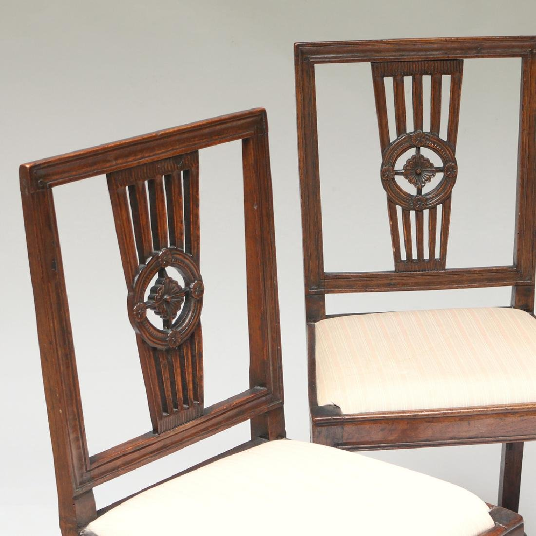 (4pc) TWO PAIRS OF ANTIQUE SIDECHAIRS - 2