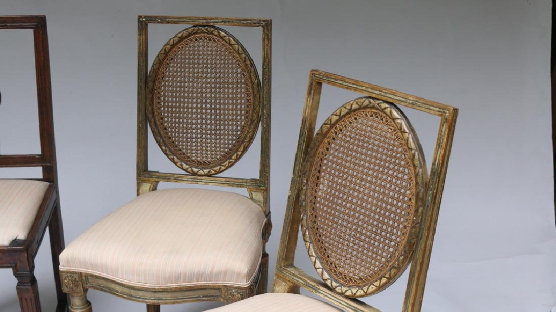 (4pc) TWO PAIRS OF ANTIQUE SIDECHAIRS - 5