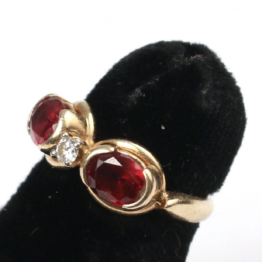 RUBY & DIAMOND RING - 2