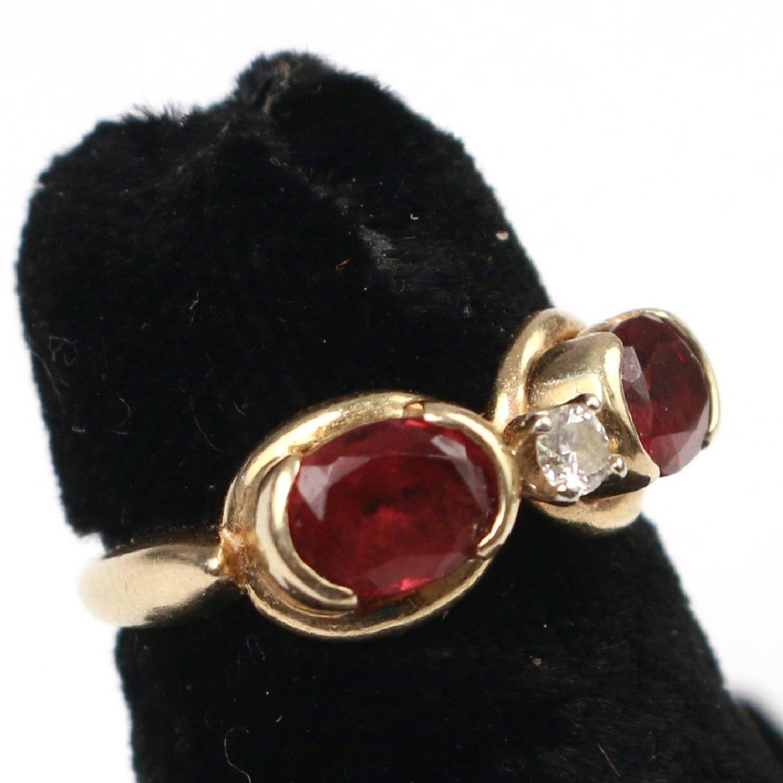 RUBY & DIAMOND RING - 3