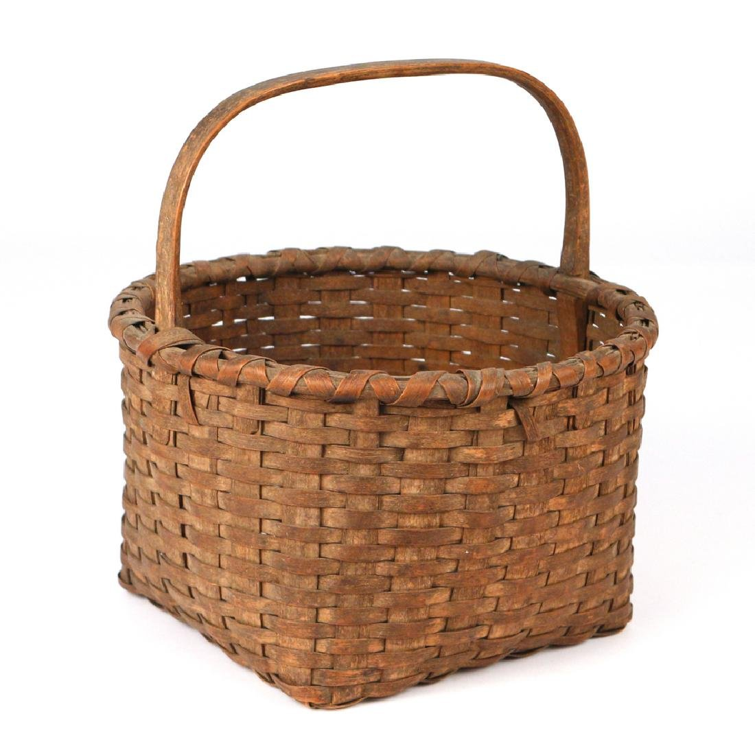 ANTIQUE POUND RIDGE SPLINT BASKET