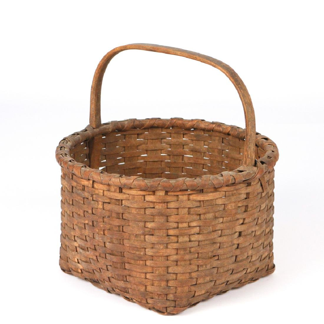 ANTIQUE POUND RIDGE SPLINT BASKET - 2