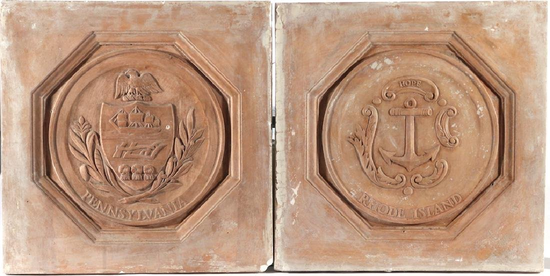 (13pc) PLAQUES OF THE 13 COLONIES - 2