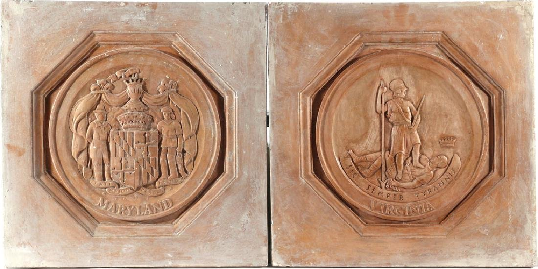 (13pc) PLAQUES OF THE 13 COLONIES - 4