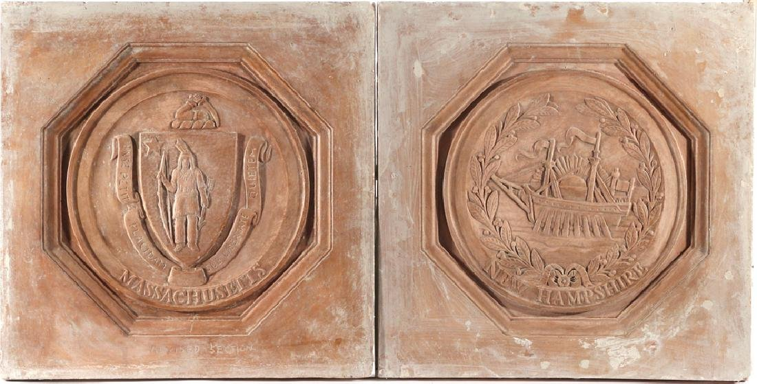 (13pc) PLAQUES OF THE 13 COLONIES - 5