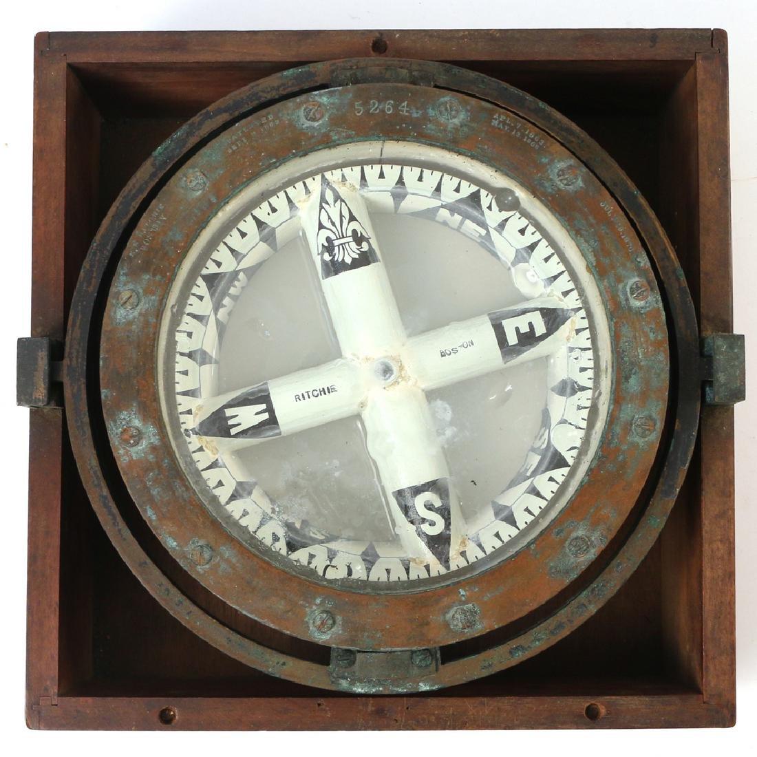 (2pc) E. S. RITCHIE SHIP'S COMPASSES - 2