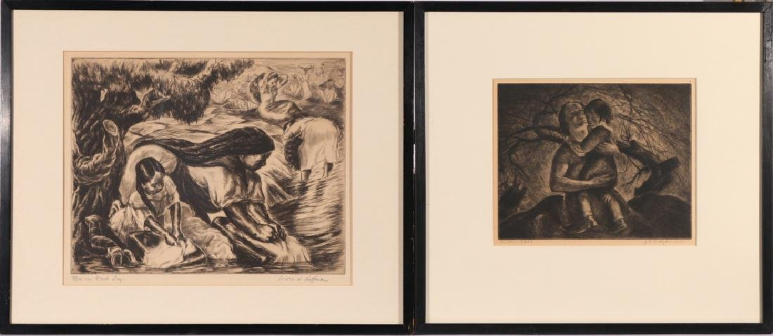 (2pc) ASSOCIATED AMERICAN ARTISTS PRINTS