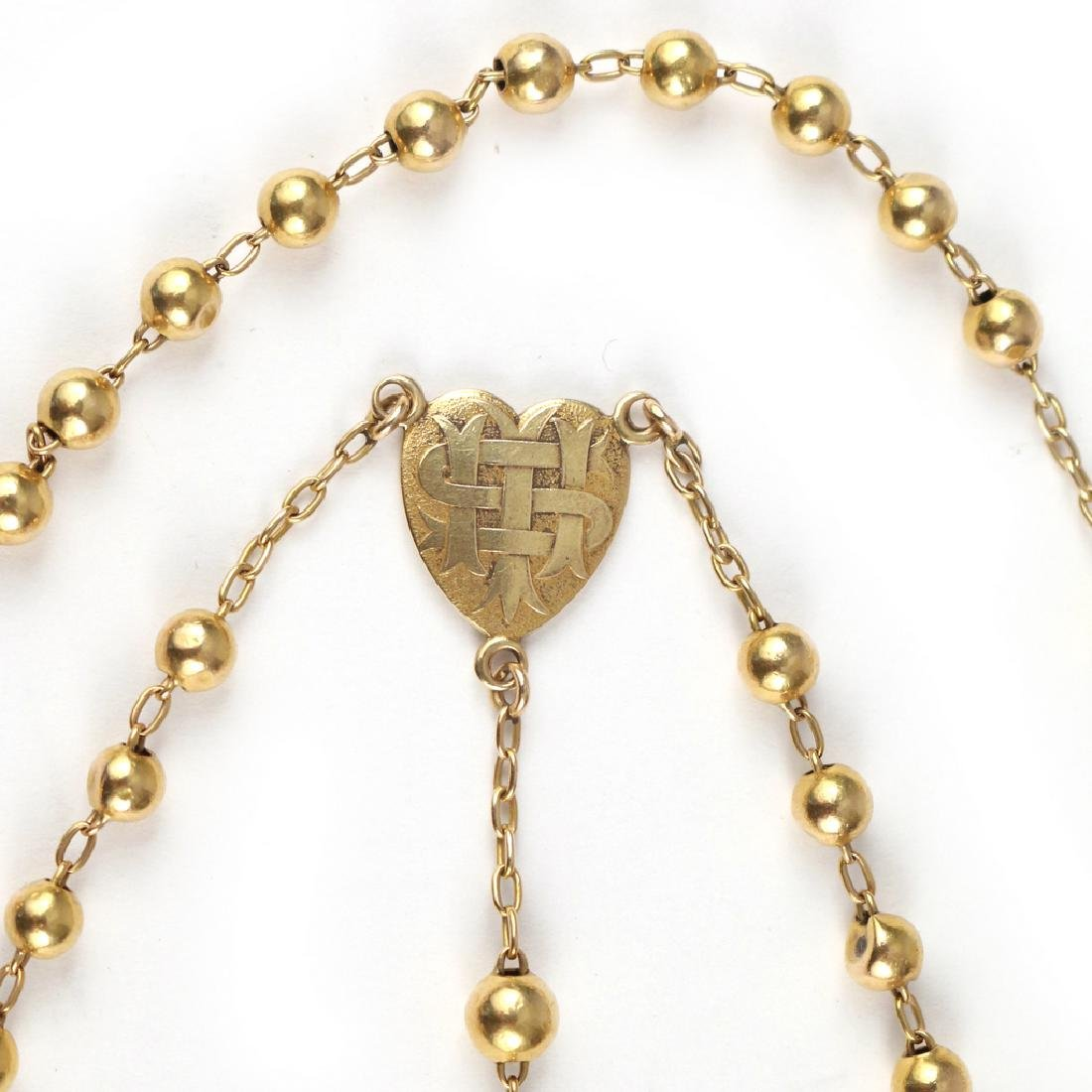 GOLD ROSARY BEADS - 2