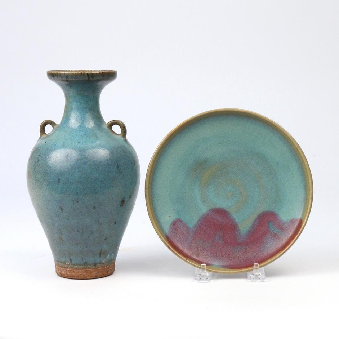 (2pc) CHINESE JUN WARE CERAMICS - 2