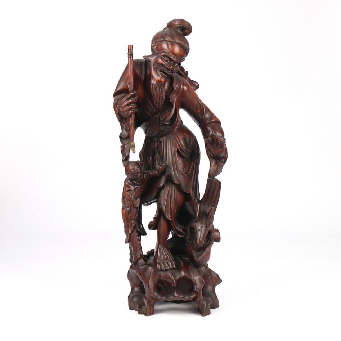 CHINESE EXPORT CARVED FIGURAL GROUP