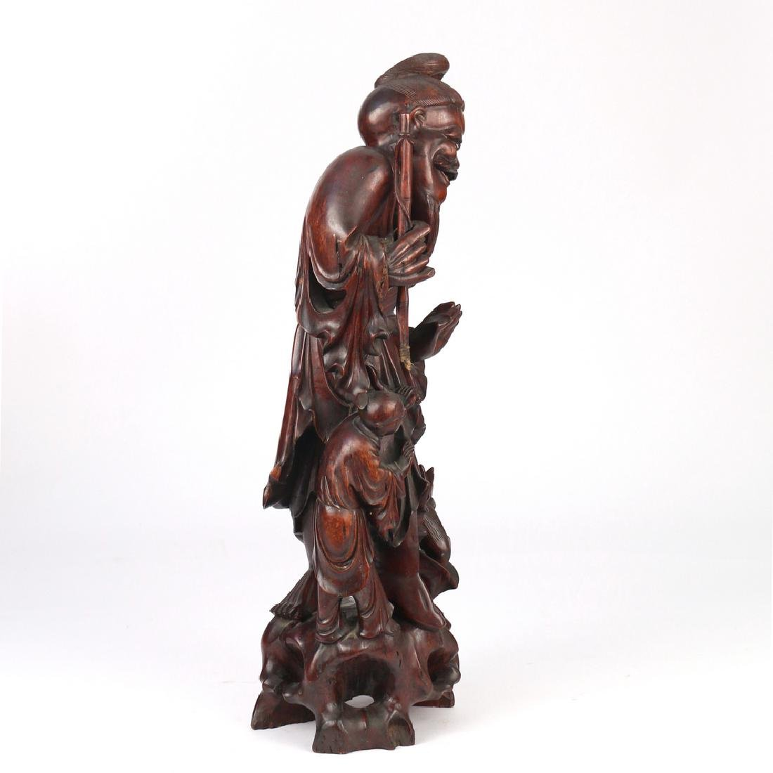 CHINESE EXPORT CARVED FIGURAL GROUP - 2