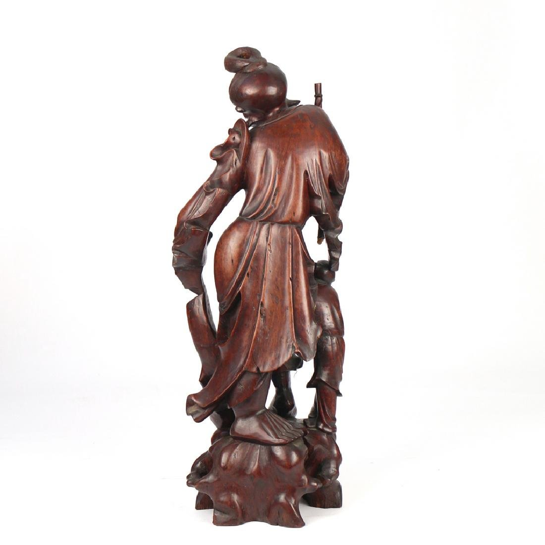 CHINESE EXPORT CARVED FIGURAL GROUP - 3