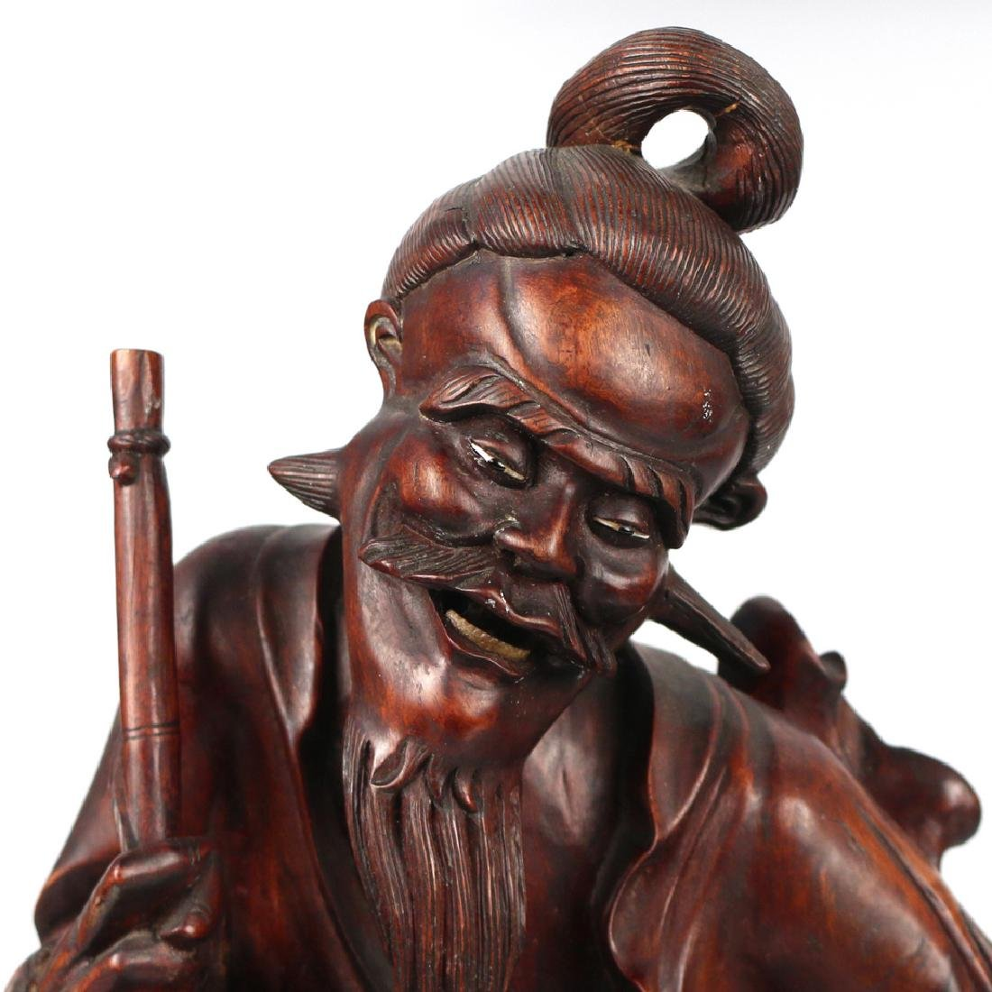 CHINESE EXPORT CARVED FIGURAL GROUP - 5