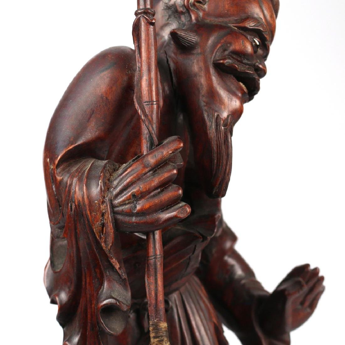 CHINESE EXPORT CARVED FIGURAL GROUP - 9