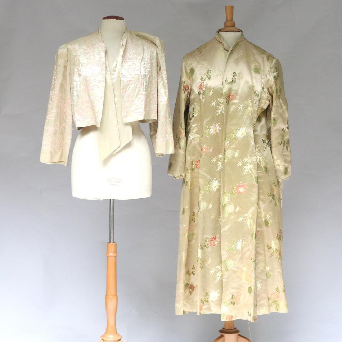 (2pc) CHINESE EMBROIDERED ROBES