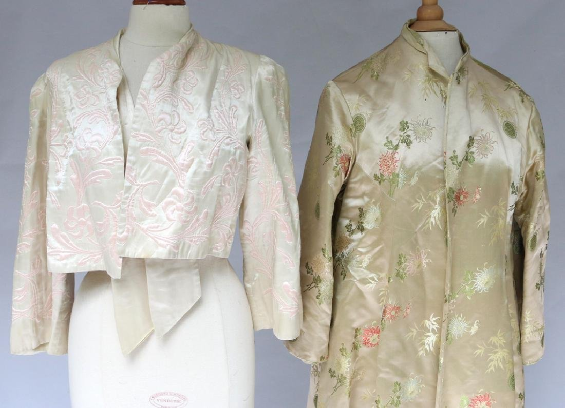 (2pc) CHINESE EMBROIDERED ROBES - 3