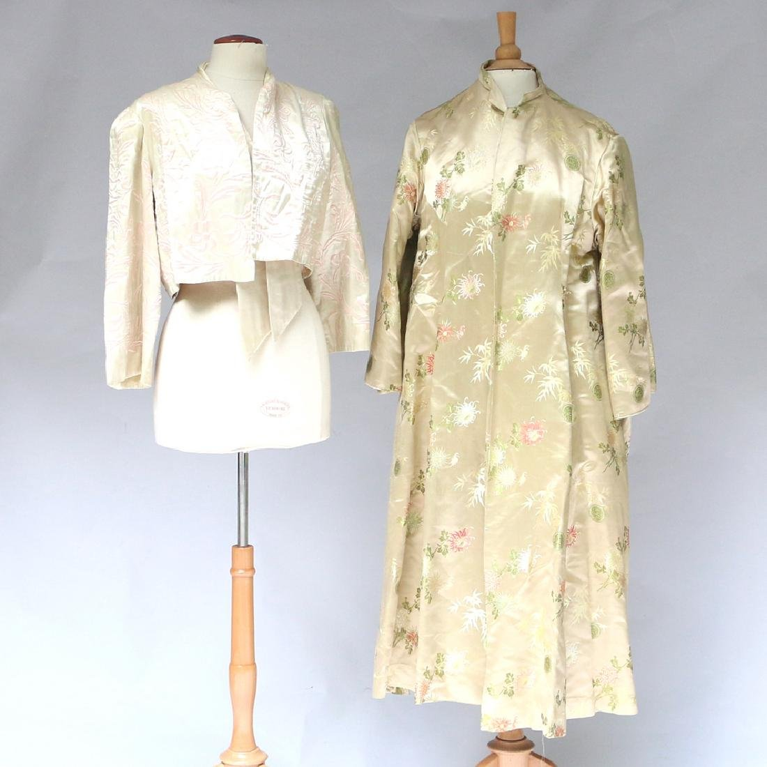 (2pc) CHINESE EMBROIDERED ROBES - 4