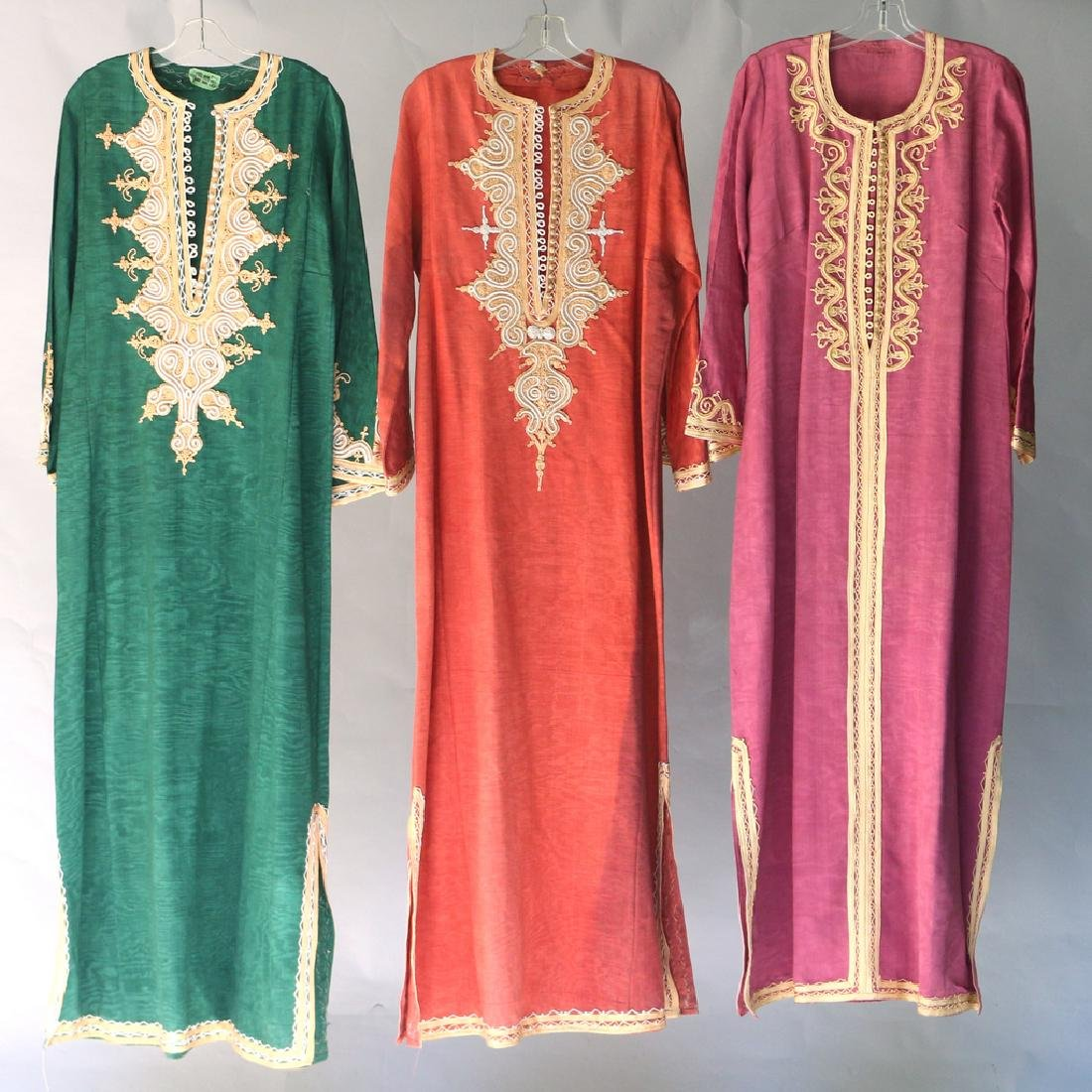 (3pc) INDIAN EMBROIDERED ROBES