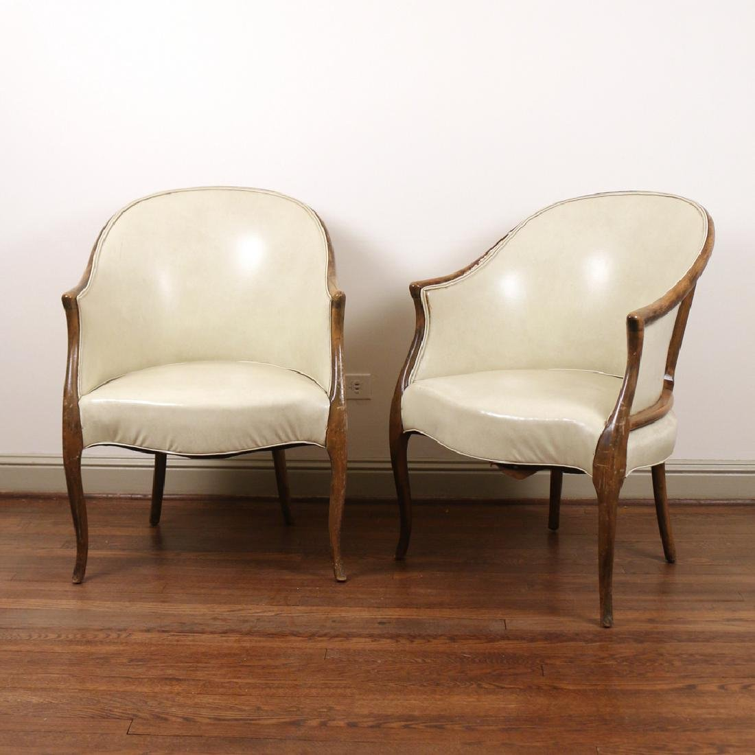 PAIR GEORGE III-STYLE TUB CHAIRS