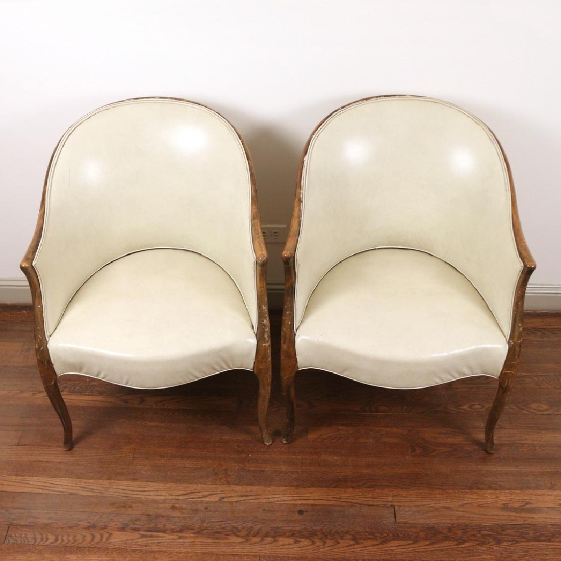 PAIR GEORGE III-STYLE TUB CHAIRS - 2