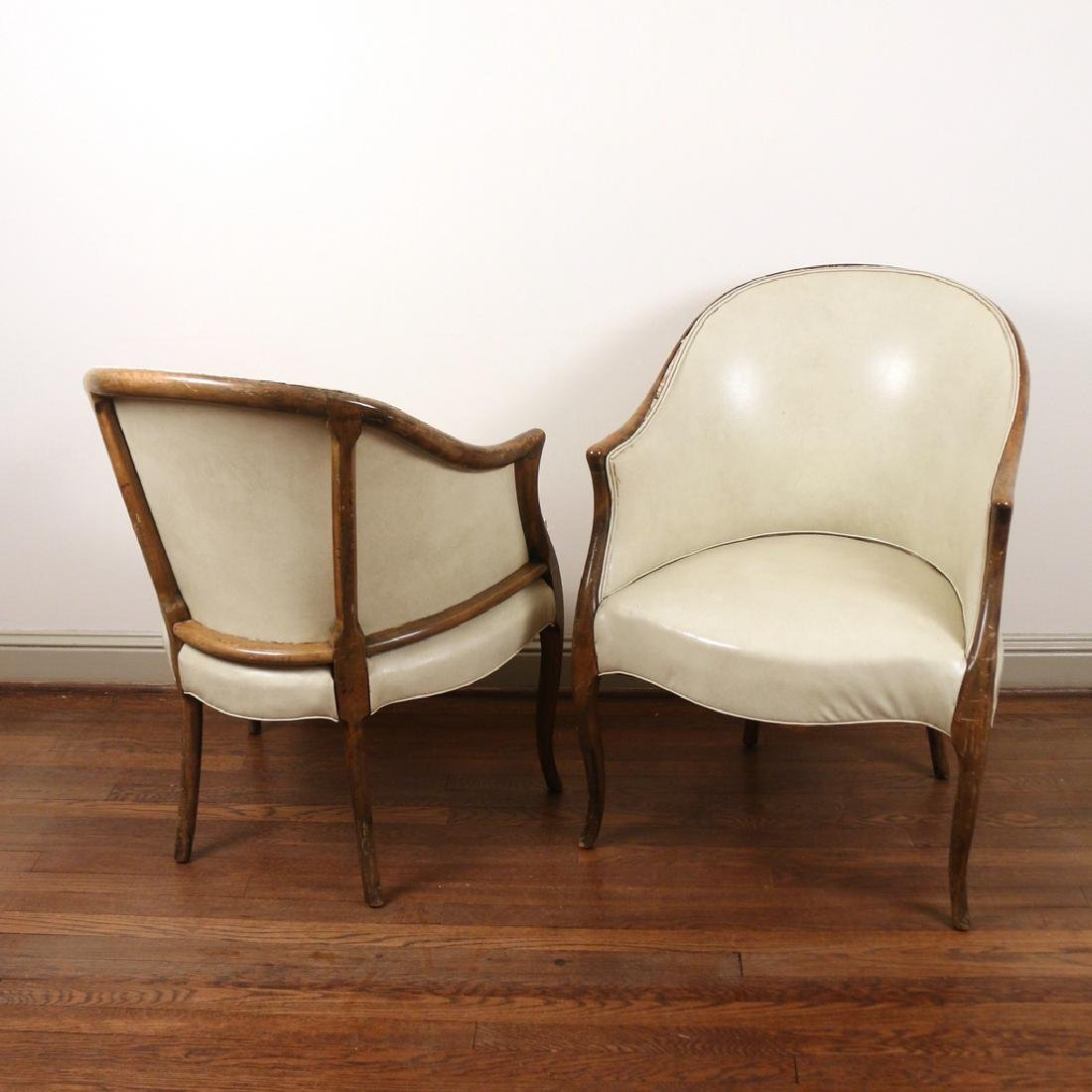 PAIR GEORGE III-STYLE TUB CHAIRS - 3