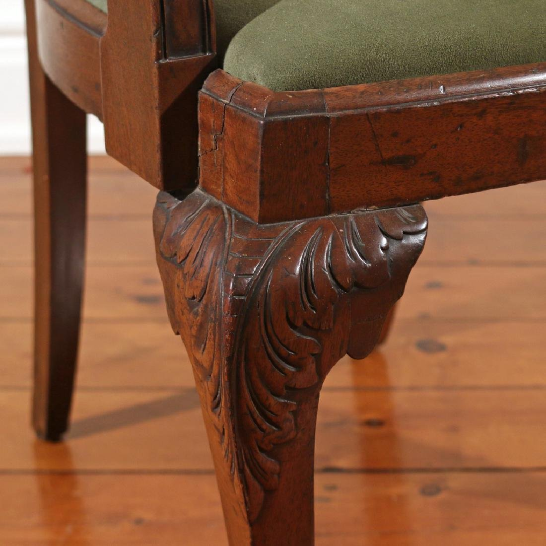 CHIPPENDALE-STYLE MAHOGANY ARMCHAIR - 3
