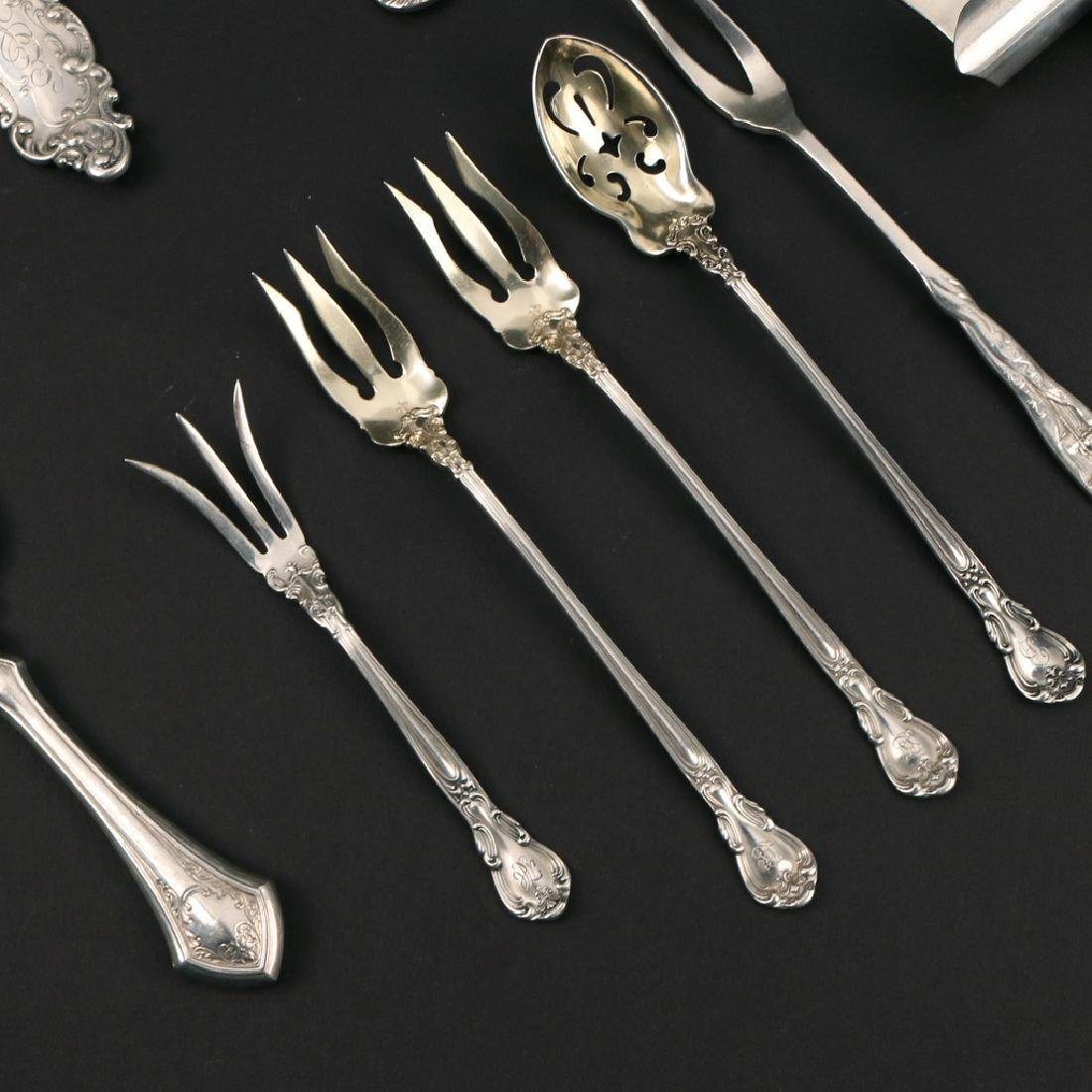 (12pc) MISC. STERLING SERVING PIECES - 2